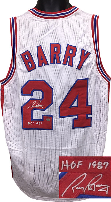 Rick Barry signed ABA White TB Custom Stitched Basketball Jersey HOF 1987 (Size L)