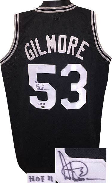 Artis Gilmore signed Black TB Custom Stitched Basketball Jersey HOF 11 XL- Leaf Hologram