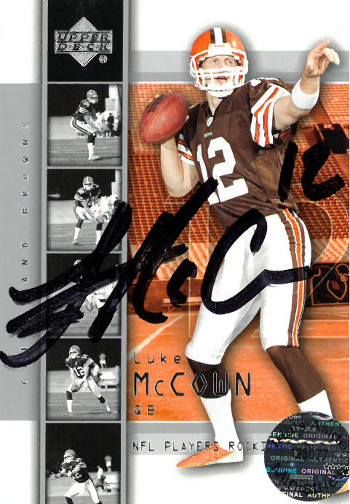 Luke McCown signed Cleveland Browns 2004 Upper Deck Rookie Trading Card #12
