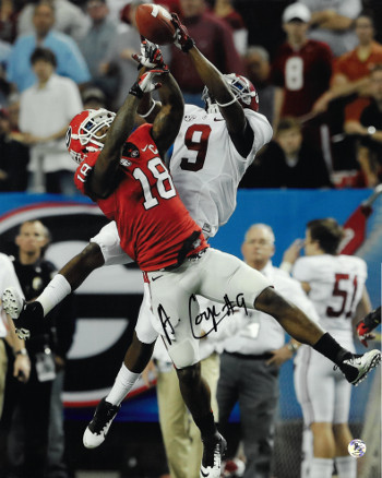 Amari Cooper signed Alabama Crimson Tide 16x20 Photo #9- JSA Hologram (vertical catch vs Georgia)