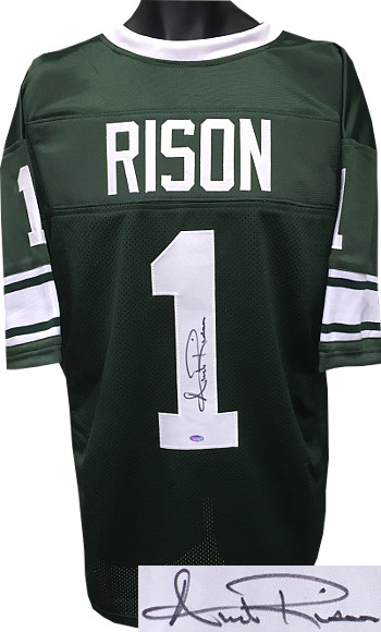 Andre Rison signed Green TB Custom Stitched Football Jersey XL