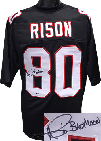 Andre Rison signed Black Custom Stitched Pro Style Football Jersey Bad Moon XL
