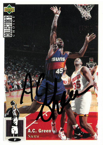 AC Green signed Phoenix Suns 1994-95 Upper Deck Collector's Choice Basketball Trading Card #145