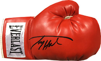 Larry Holmes signed Right Red Everlast Boxing Glove (black sig)
