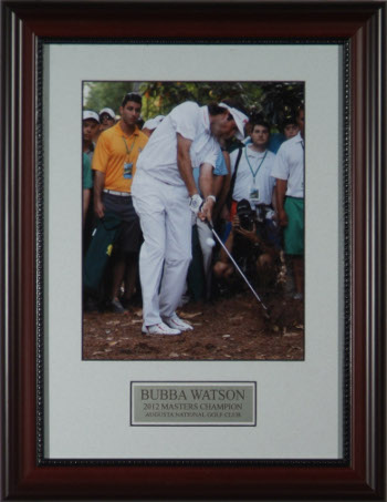 Bubba Watson 8x10 Photo 2012 Masters Champion Pinestraw Custom Wood Framing