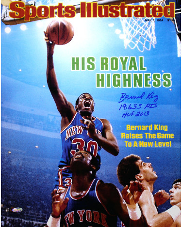 Bernard King signed New York Knicks 16x20 Photo Sports Illustrated Cover May 7, 1984 dual 19,655 Pts & HOF 2013- Steiner Holo