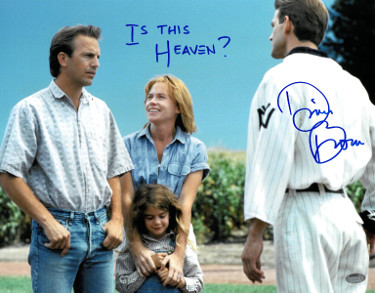 "Dwier Brown signed Field of Dreams 11x14 Photo ""Is This Heaven?"" (with Kevin Costner/John Kinsella)"
