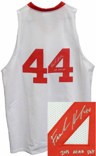 Frank Kaminsky signed White w/ Shadow #'s Custom Stitched College Style Basketball Jersey #44 2015 NCAA POY XL