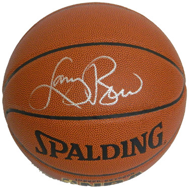 Larry Bird signed Spalding Indoor/Outdoor TB Basketball (silver sig)- Bird Hologram (Boston Celtics)
