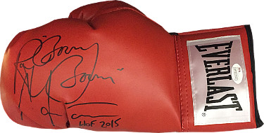 "Ray ""Boom Boom"" Mancini signed Everlast Left Red Boxing Glove w/  HOF 2015 inscription - JSA Hologram"