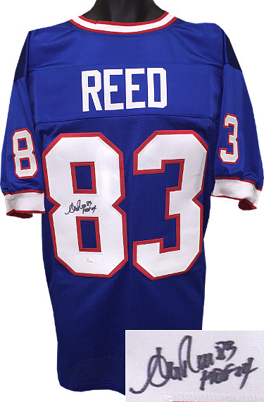 Andre Reed signed Blue TB Custom Stitched Pro Style Football Jersey #83 HOF 14 - JSA Hologram