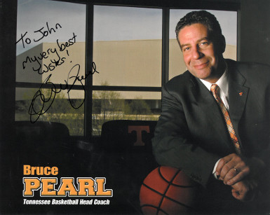 Bruce Pearl signed Tennessee Volunteers Basketball 8x10 Photo To John- Best Wishes (Head Coach)