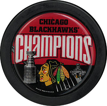 Chicago Blackhawks Stanley Cup Champions Logo Hockey Puck