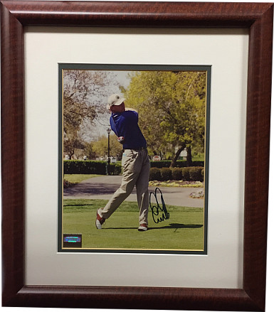 Ernie Els signed Vintage PGA 8x10 Photo Custom Framing - Mounted Memories Hologram