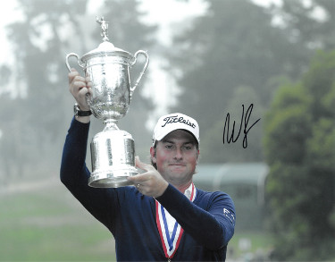 Webb Simpson signed PGA 11x14 Photo (with 2012 US Open Trophy)