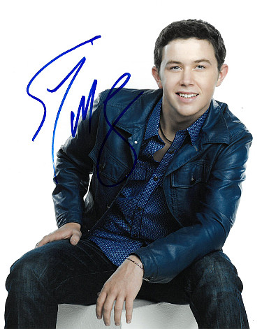 Scotty McCreery signed 8x10 Photo (vertical/white background)- PSA/JSA/BAS Guaranteed To Pass