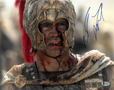 Colin Farrell signed Alexander 11X14 Photo (horizontal-close up bloody face)- Beckett Holo #C83048