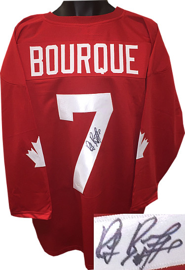 Ray Bourque signed Team Canada Red TB Custom Stitched Hockey Jersey #77 XL- JSA Witnessed Hologram