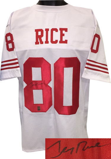 Jerry Rice signed White Custom Stitched Pro Style Football Jersey- Rice Hologram