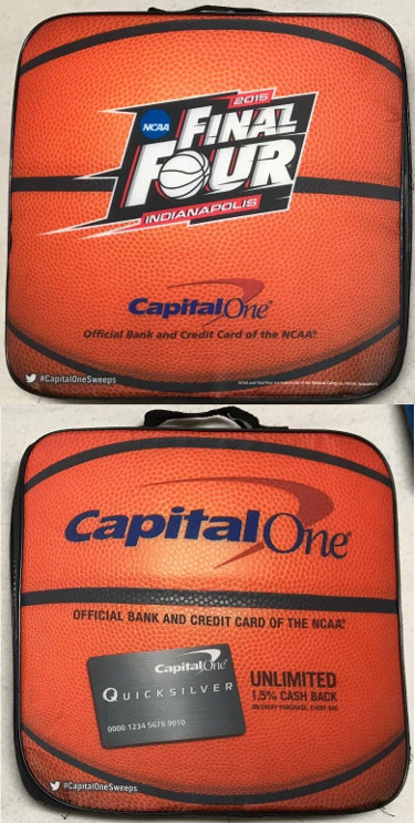 2015 NCAA Basketball Tournament Final Four Seat Cushion