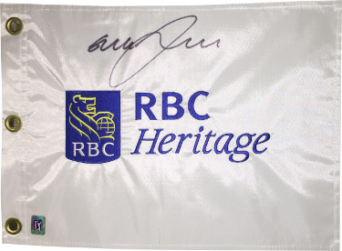 Graeme McDowell signed RBC Heritage White PGA Tour Embroidered Flag- JSA Hologram #CC09314
