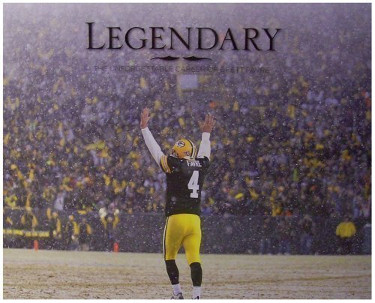 Legendary: The Unforgettable Career of Brett Favre Hardcover Book (Green Bay Packers)