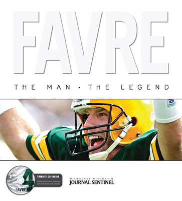 Favre: The Man, the Legend with CD- Hardcover Book 2008 (Brett Favre- Green Bay Packers)