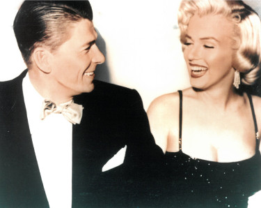 Marilyn Monroe & Ronald Reagan unsigned Vintage Color 8x10 Photo