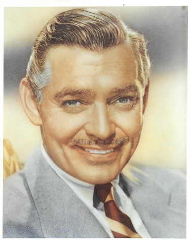 Clark Gable unsigned Vintage Color 8x10 Photo