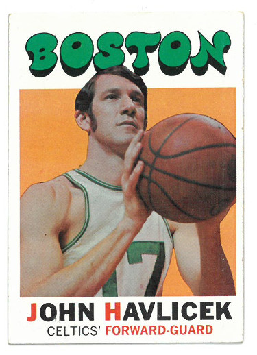 John Havlicek 1971-1972 Boston Celtics Topps Basketball Trading Card #35