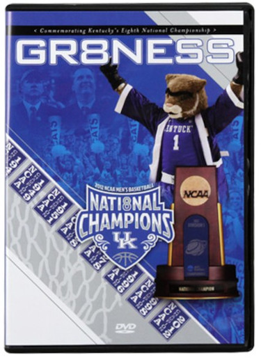 "2012 Kentucky Wildcats NCAA Men's Basketball National Champions ""GR8NESS"" DVD – BRAND NEW"