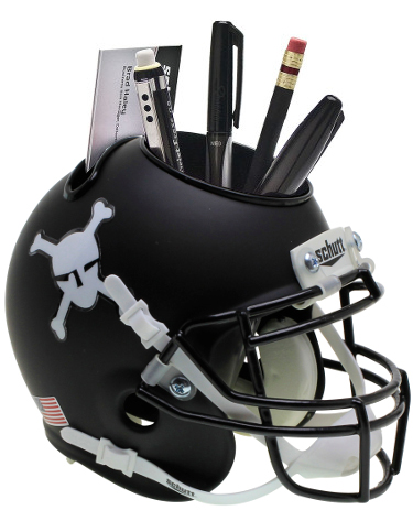 Army Black Knights (Black Matte) NCAA Football Schutt Mini Helmet Desk Caddy