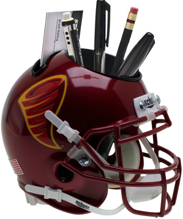 Iowa State Cyclones (Cyclone Logo) NCAA Football Schutt Mini Helmet Desk Caddy