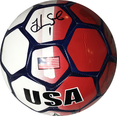 c222e5e28ed Hope Solo signed Olympic Team USA Full Size Soccer Ball Red White Blue w