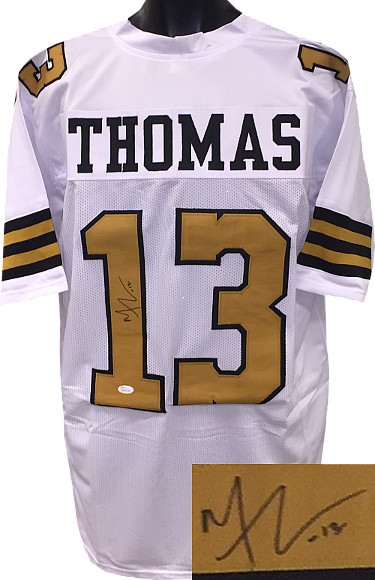 Michael Thomas signed White Color Rush Custom Stitched Pro Style Football Jersey #13 XL- JSA Witnessed Hologram