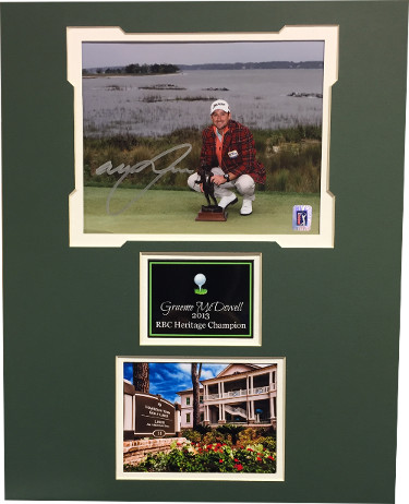 Graeme McDowell signed 2013 RBC Heritage 8x10 Photo - Harbour Town  Matted (16x20)- PGA Tour Hologram