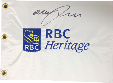 Graeme McDowell signed RBC Heritage White PGA Tour Embroidered Golf Pin Flag- JSA Hologram #CC08772