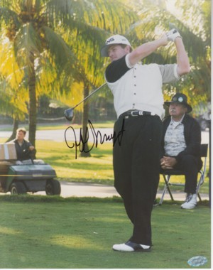 Jeff Maggert signed 8x10 Photo- Mounted Hologram