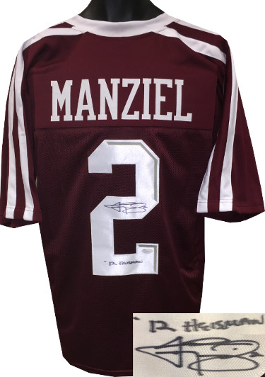 Johnny Manziel signed Maroon Custom Stitched College Football Jersey #2 '12 Heisman XL- JSA Hologram
