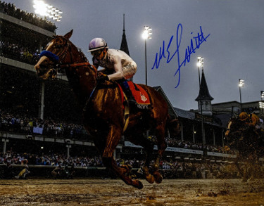 Mike E. Smith signed Justify 2018 144th Kentucky Derby 8x10 Photo Triple Crown- Steiner Hologram