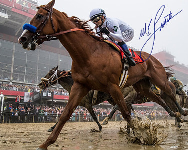 Mike E. Smith signed Justify 2018 Preakness 8x10 Photo Triple Crown- Steiner Hologram