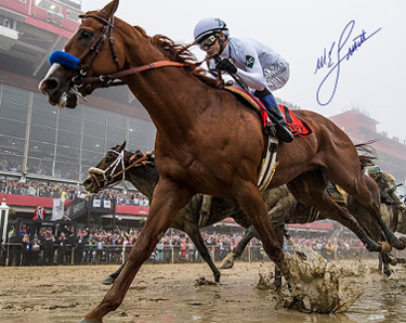 Mike E. Smith signed Justify 2018 Preakness 16X20 Photo Triple Crown- Steiner Hologram