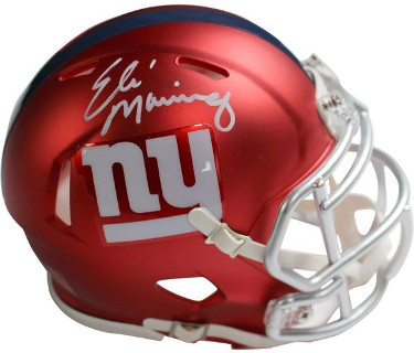 Eli Manning signed New York Giants Riddell Blaze Speed Mini Helmet- Steiner Hologram