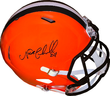Nick Chubb signed Cleveland Browns Full Size Speed Rep Helmet #24- JSA Witnessed Hologram