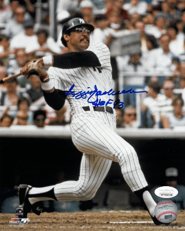 Reggie Jackson signed New York Yankees 8x10 Photo HOF 93- JSA Witnessed Hologram