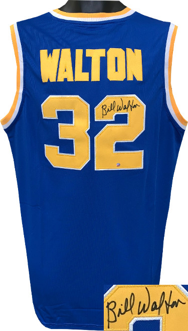 Bill Walton signed Blue Custom Stitched College Basketball Jersey XL- Steiner Hologram