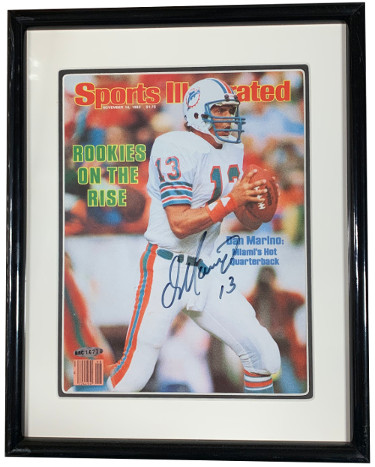 Dan Marino signed Miami Dolphins Sports Illustrated November 14, 1983 Rookies on the Rise Cover Custom Framing - Upper Deck Holo
