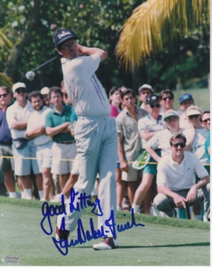 Ian Baker Finch signed Golf 8x10 Photo Good Hitting- Mounted Hologram