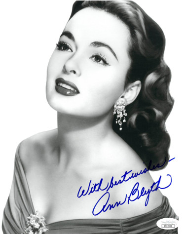 Ann Blyth signed Vintage B&W 8x10 Photo with Best Wishes- JSA Hologram #DD32893