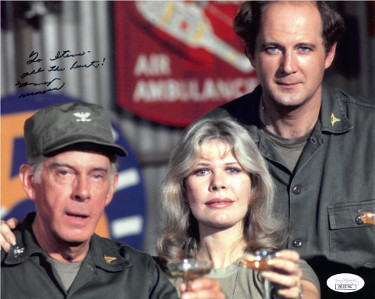 Harry Morgan signed M*A*S*H 8x10 Photo To Steve All the Best (Colonel Sherman T. Potter)- JSA Holo #DD32796 (w/ Loretta Swit)